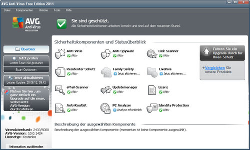 AVG Anti-Virus Free* Download (Freeware) - Guter Schutz vor Viren dank AVG Anti-Virus Freer - AVG, Anti, Virus, software, download, screenshot.