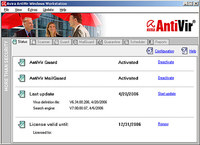 AntiVir Download (Freeware) - Der beliebte kostenlose Virenschutz AntiVir - Avira, Antivir, Anit, Viren, Software, Download, Screenshot.